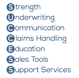 Success - Strength, Underwriting, Communication, Claims Handling, Education, Sales Tools, Support Services